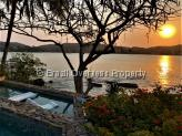 House for sale in Buzios - Sunset from the private pool