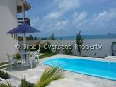 House for sale in Pitimbu - Pool and ocean view from garden