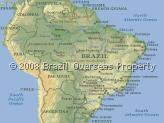 Map of Brazil giving Information about Brazilian States and Major Cities - International country dialling code +55