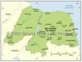 Rio Grande do Norte, Brazil - Map of Rio Grande do Norte State, Brazilian State Code - RN, Brasil dialling/area code (+55) 84